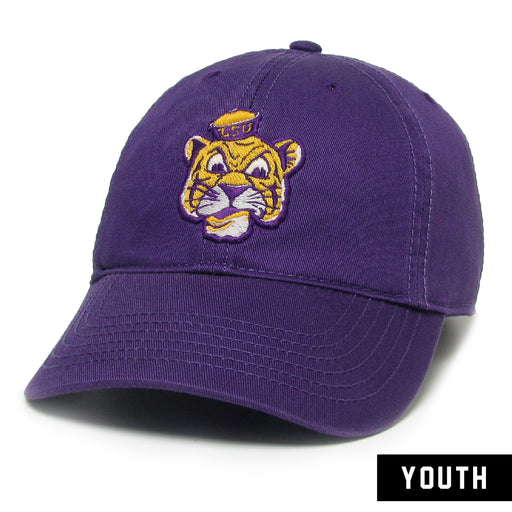 LSU Tigers Legacy Beanie Mike Relaxed Twill Youth Hat - Purple