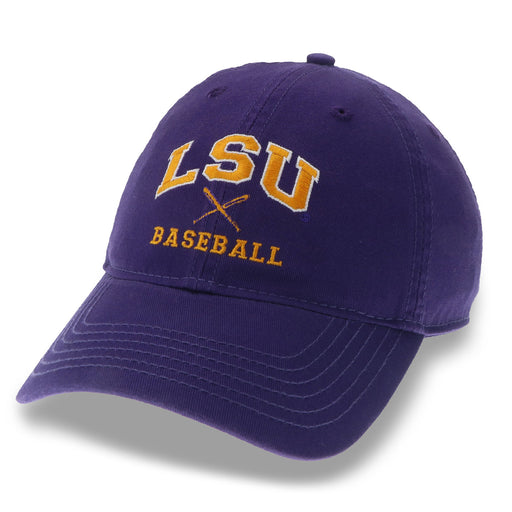 LSU Tigers Legacy Relaxed Twill Baseball Rep Hat - Purple