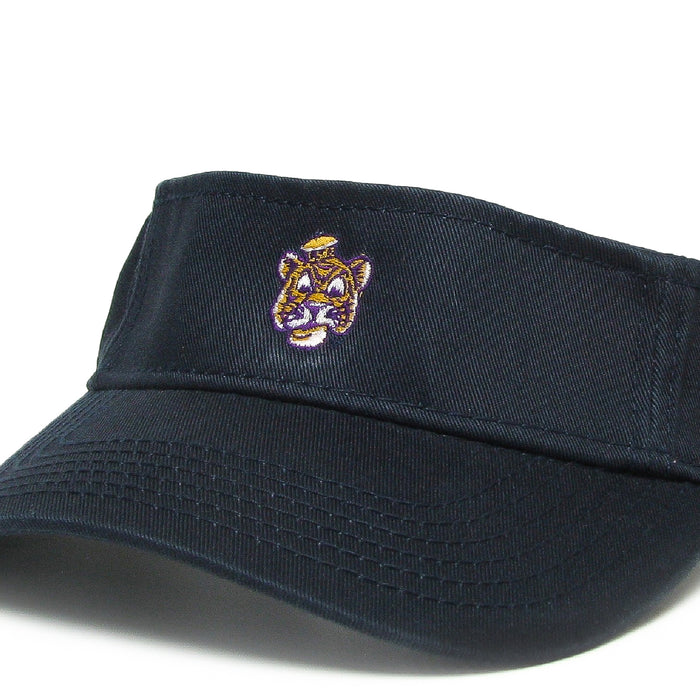 LSU Tigers Legacy Beanie Mike Relaxed Twill Visor - Navy