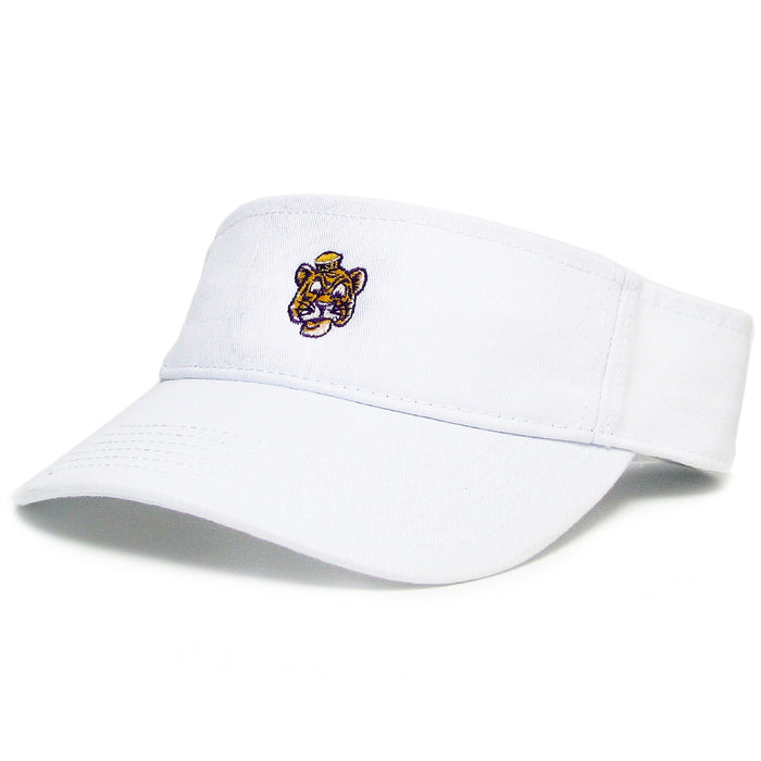 LSU Tigers Legacy Beanie Mike Relaxed Twill Visor - White