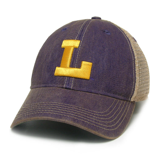 LSU Tigers Legacy Vault L OFA Trucker Hat - Purple