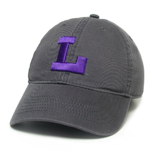 LSU Tigers Legacy Vault L Relaxed Twill Hat - Dark Grey