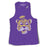 LSU Tigers Retro Brand Beanie Mike Vault Racerback Muscle Tank - Purple