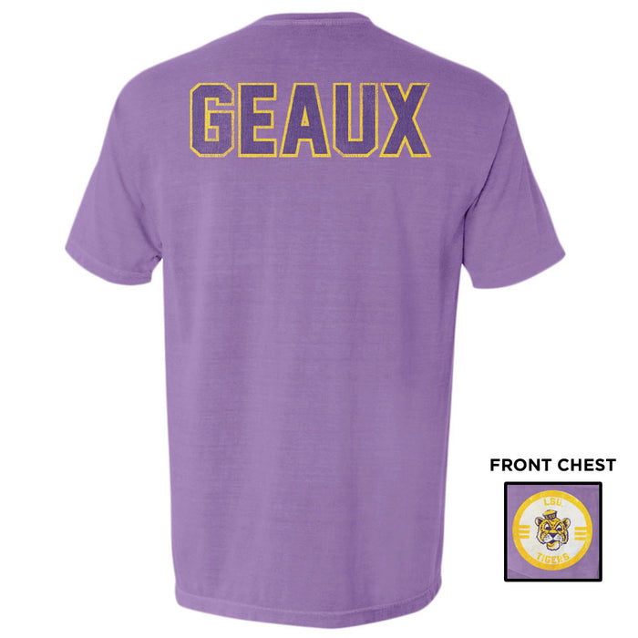 LSU Tigers Retro Brand Beanie Mike Geaux Garment Dyed Pocket T-Shirt - Purple