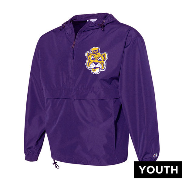LSU Tigers Champion Beanie Mike Packable Lightweight Youth Pullover Jacket - Purple
