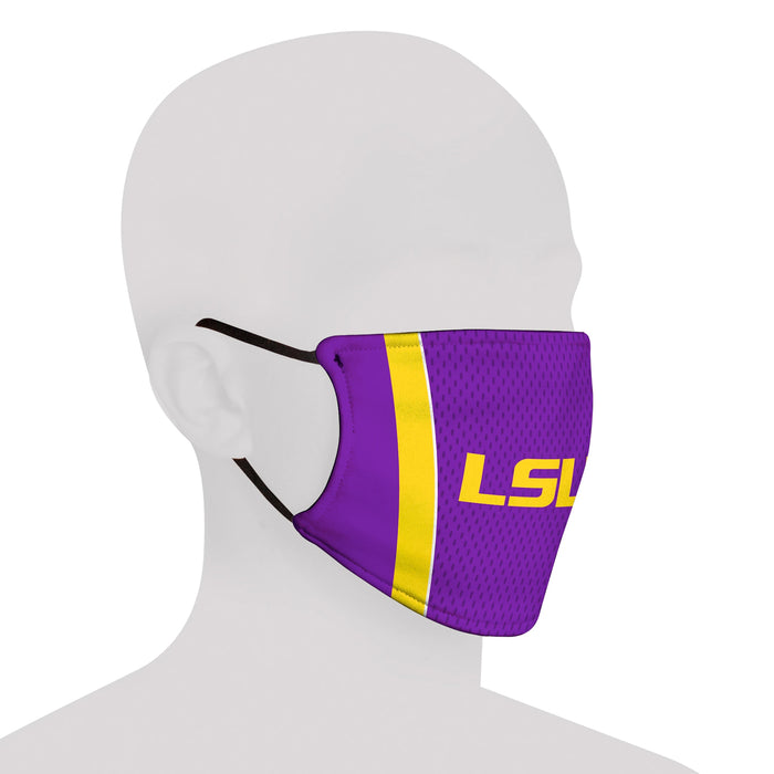 LSU Tigers Rock Em Resuable Adult Face Mask / Cover - Purple Jersey