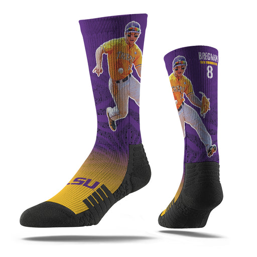 LSU Tigers Strideline Alex Bregman Performance Crew Socks - Purple