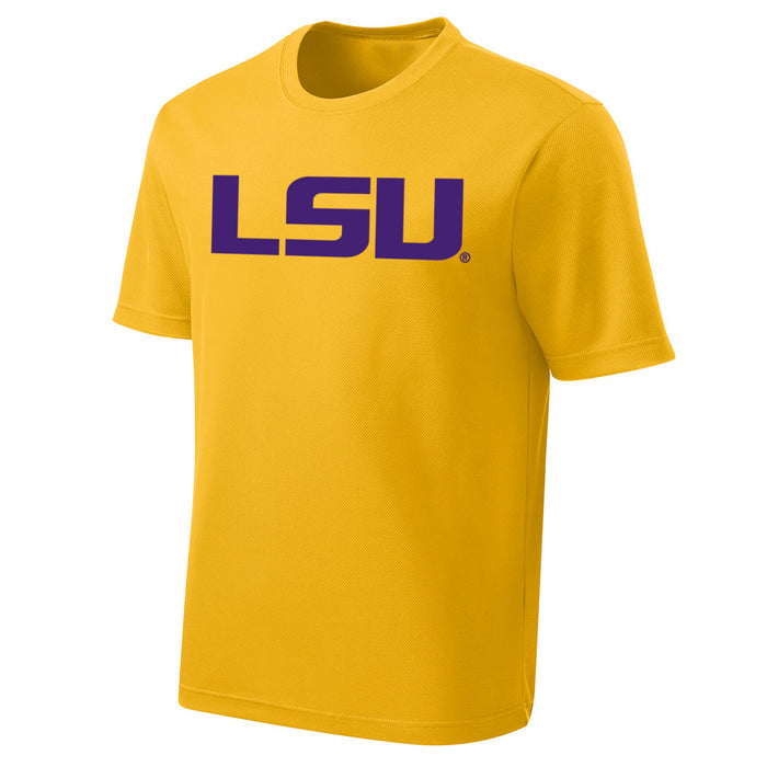 LSU Tigers Performance Mesh Geaux Font Kids T-Shirt - Gold