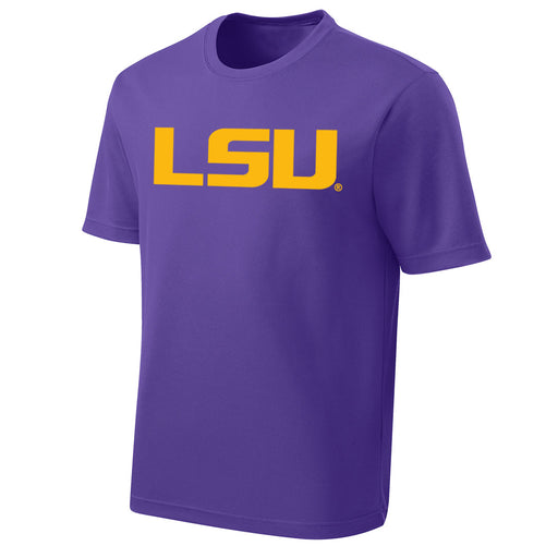 LSU Tigers Performance Mesh Geaux Font Kids T-Shirt - Purple