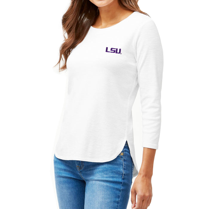 LSU Tigers Tommy Bahama Women's Ashby 3/4 Sleeve T-Shirt – White