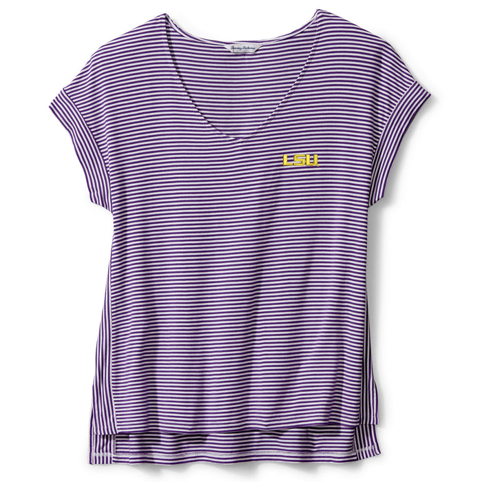 LSU Tigers Tommy Bahama Women's Cassia V-Neck T-Shirt