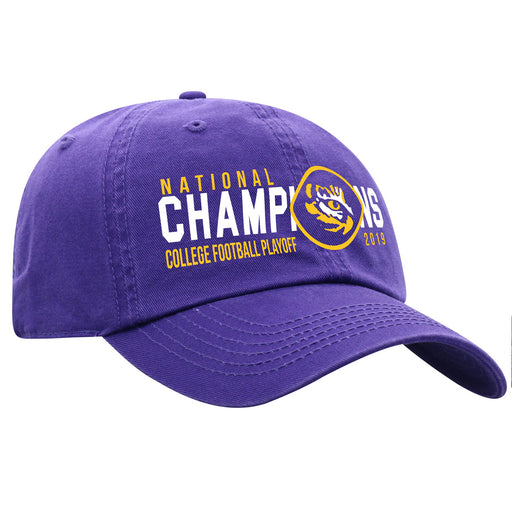 LSU Tigers Top Of The World 2019 National Champions Speed Crew Hat - Purple
