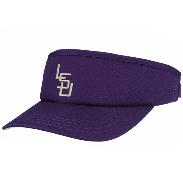 LSU Tigers Top Of The World Vault Interlock Abe Visor - Purple