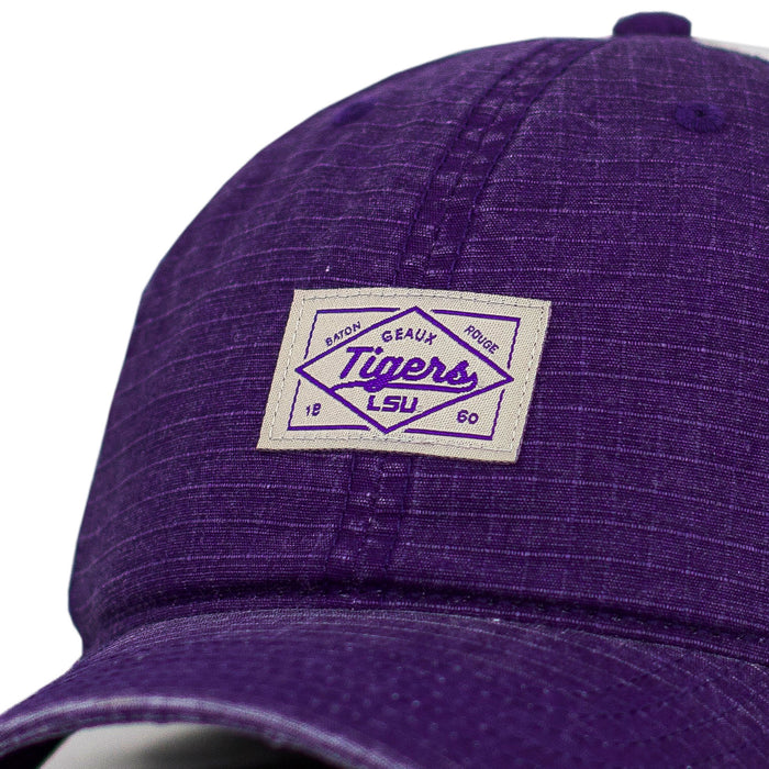 LSU Tigers Top Of The World Axel Adjustable Canvas Hat - Purple