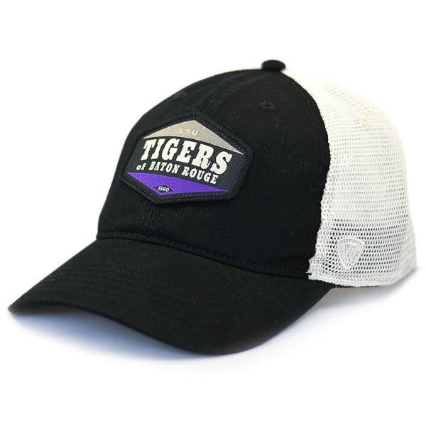 LSU Tigers Top Of The World Jimmy Mesh Trucker Hat - Black