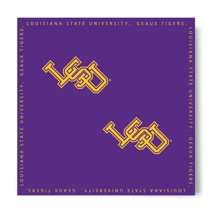 LSU Tigers Top Of The World Interlock Bandana - Purple