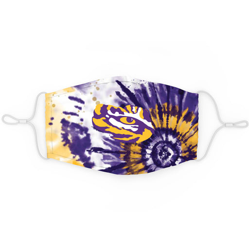 LSU Tigers Top Of The World Tiger Eye Tie Dye Face Mask / Cover - Purple
