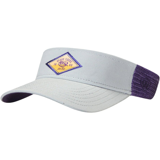 LSU Tigers Top Of The World Walker Two Tone Mesh Visor - Grey