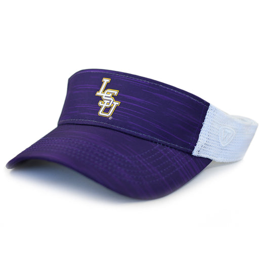 LSU Tigers Top Of The World Interlock NOVH8 Two Tone Mesh Visor - Purple