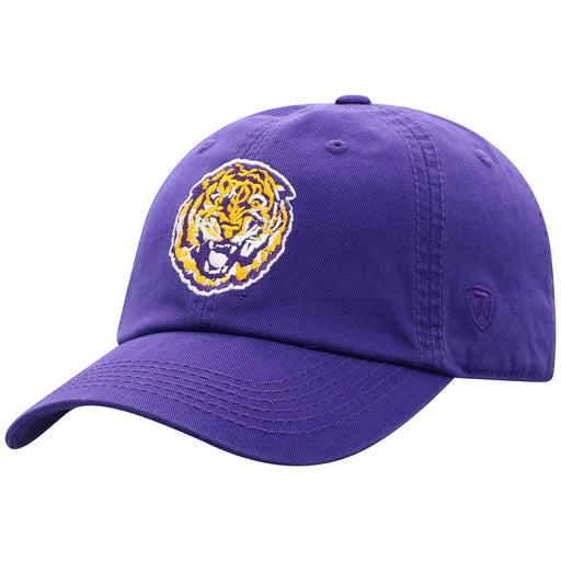 LSU Tigers Top Of The World Round Vault Tiger Adjustable Hat - Purple