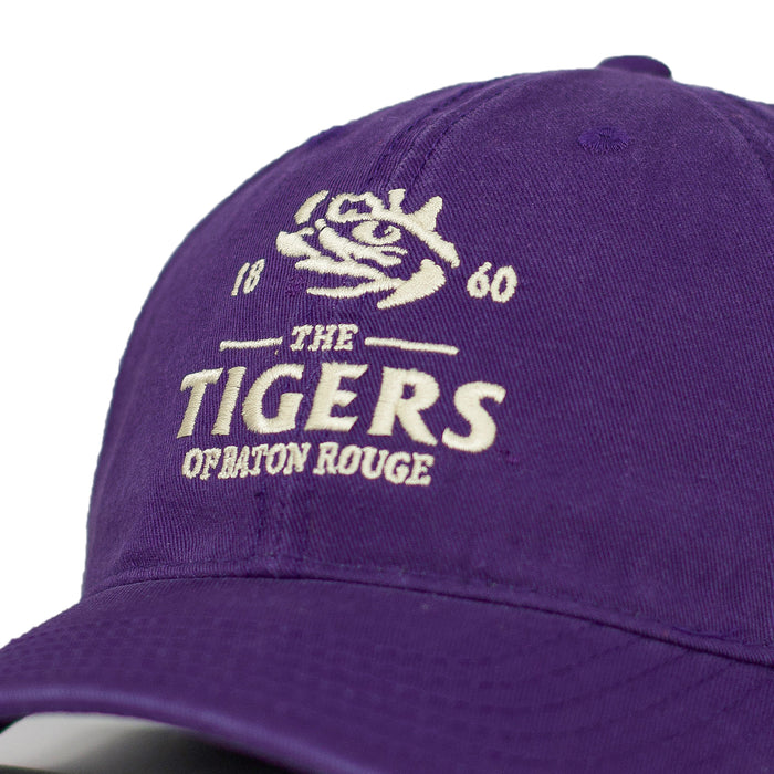 LSU Tigers Top Of The World Baton Rouge Marker Adjustable Hat - Purple