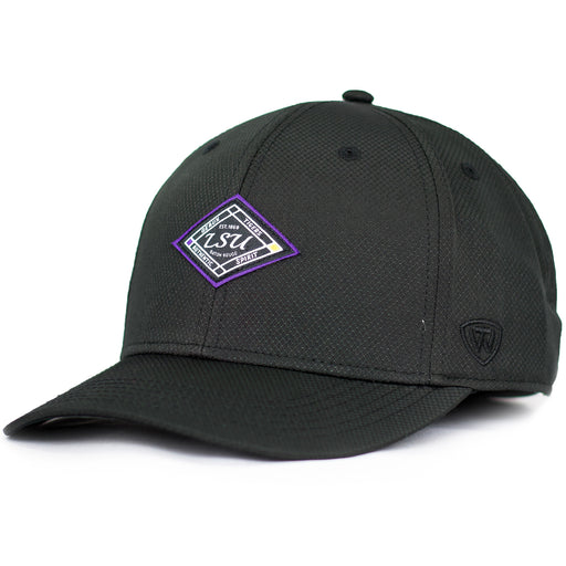 LSU Tigers Top Of The World Performance Credible Adjustable Hat - Black