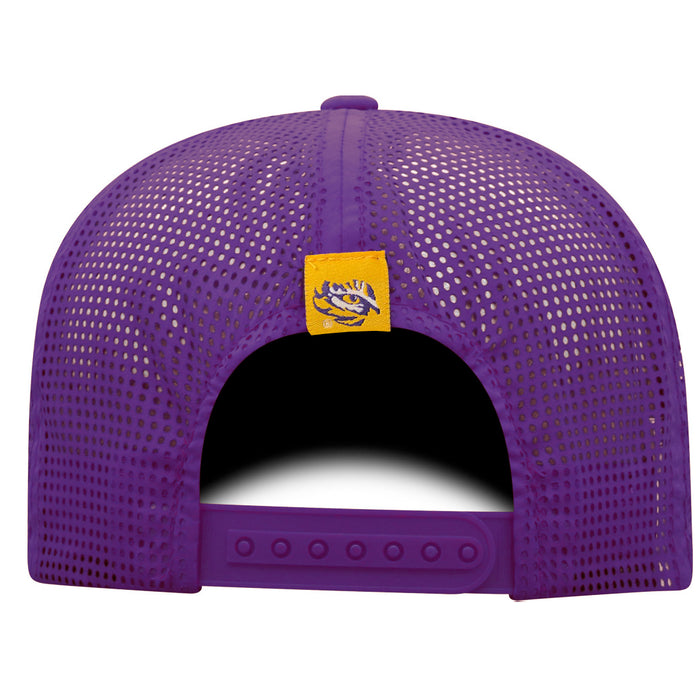 LSU Tigers Top Of The World Flight Performance Mesh Snapback Hat - Purple
