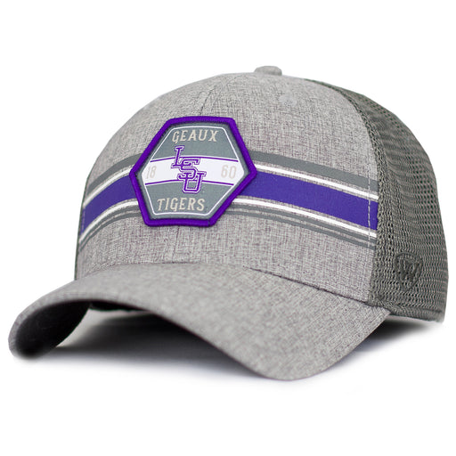 LSU Tigers Top Of The World Willow Mesh Trucker Hat - Grey