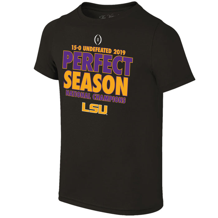 LSU Tigers Victory 2019 National Champions Perfect Season T-Shirt - Black