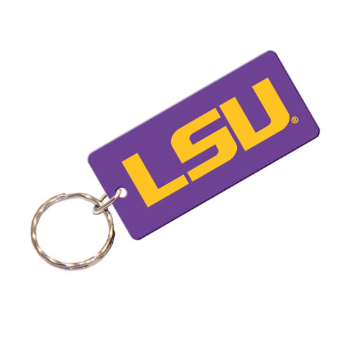 LSU Tigers Acrylic Mirror Keychain - Purple