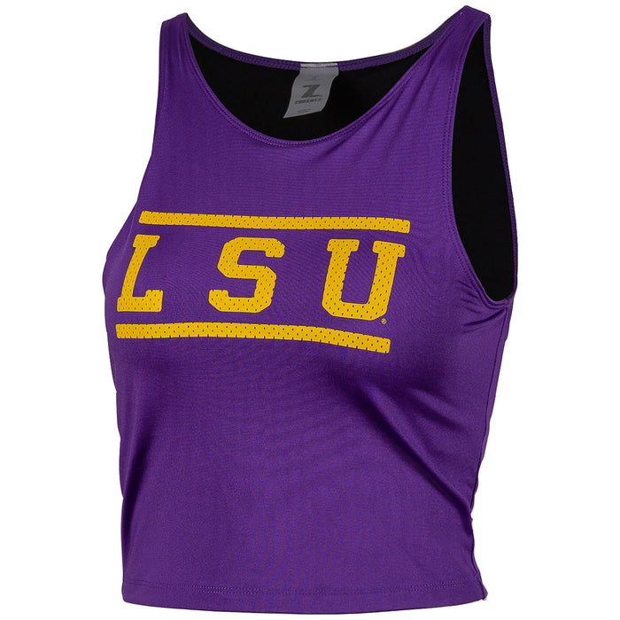 LSU Tigers ZooZatZ Women's Athletic Jersey Crop Tank - Purple