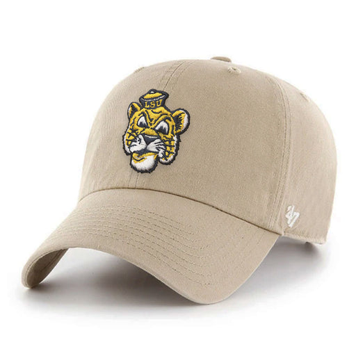 LSU Tigers 47 Brand Beanie Clean Up Adjustable Hat - Khaki