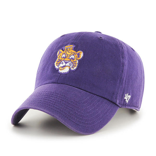 LSU Tigers 47 Brand Beanie Clean Up Adjustable Hat - Purple
