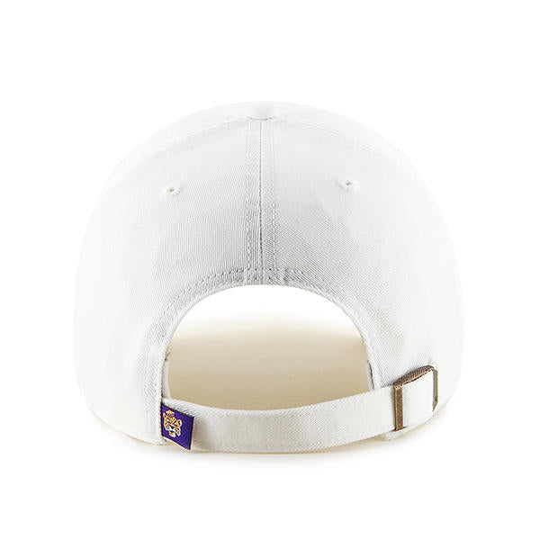 LSU Tigers 47 Brand Beanie Clean Up Adjustable Hat - White