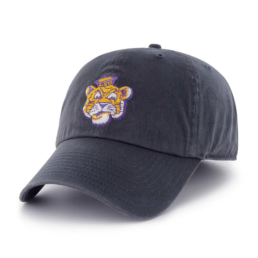 LSU Tigers 47 Brand Beanie Mike Vault Interlocak Franchise Fitted Hat - Navy