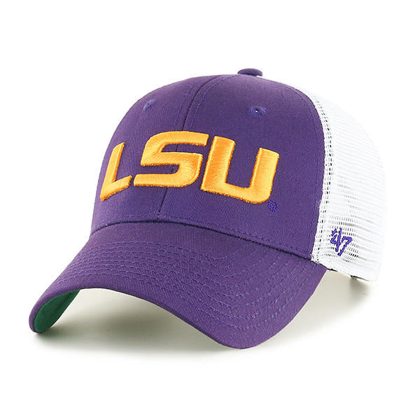 LSU Tigers 47 Brand Branson MVP Structured Adjustable Mesh Trucker Hat - Purple