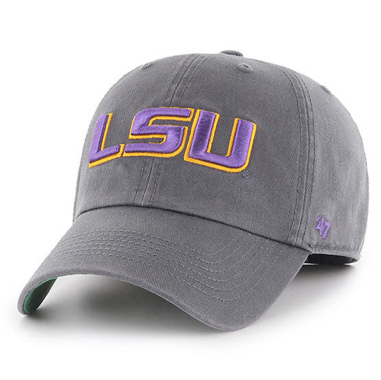 8f4704a754 LSU Tigers 47 Brand Geaux Font Franchise Fitted Hat - Charcoal ...