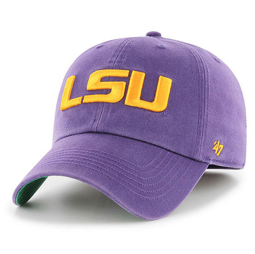 LSU Tigers 47 Brand Geaux Font Franchise Fitted Hat - Purple