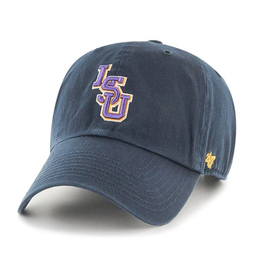 LSU Tigers 47 Brand Interlock Clean Up Adjustable Hat - Navy