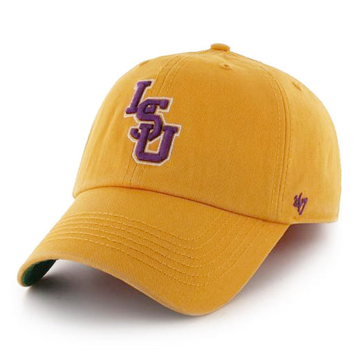 LSU Tigers 47 Brand Interlock Franchise Fitted Hat - Gold