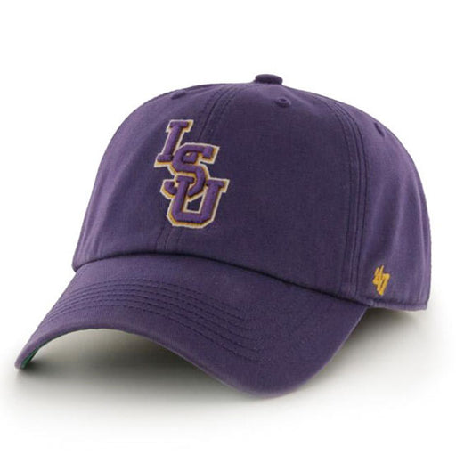LSU Tigers 47 Brand Interlock Franchise Fitted Hat - Purple