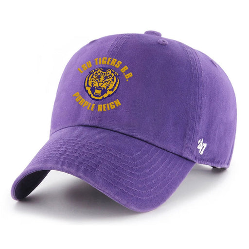 LSU Tigers 47 Brand Purple Reigh Basketball Clean Up Adjustable Hat - Purple