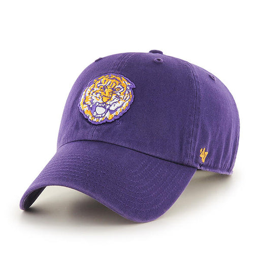 LSU Tigers 47 Brand Round Vault Tiger Clean Up Adjustable Hat - Purple