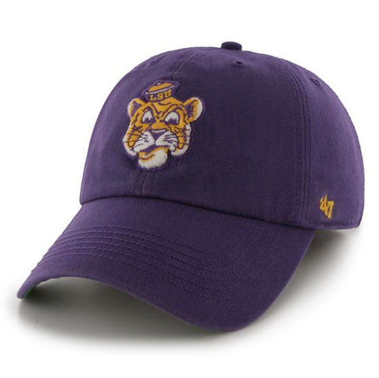 LSU Tigers 47 Brand Vault Beanie Franchise Fitted Hat - Purple