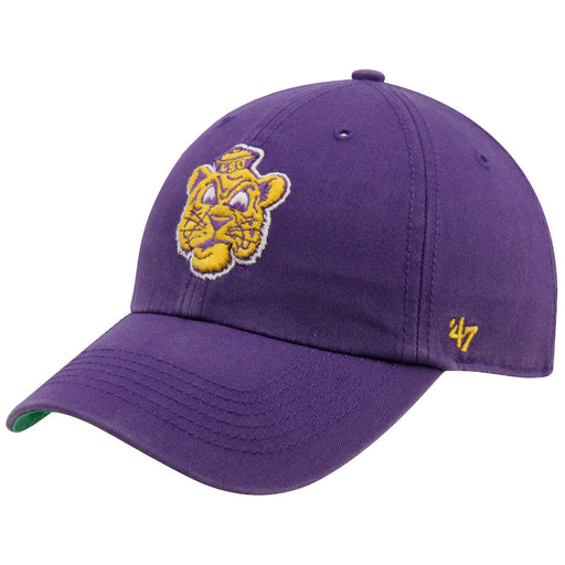 LSU Tigers 47 Brand Vault Gold Tone Beanie Franchise Fitted Hat - Purple