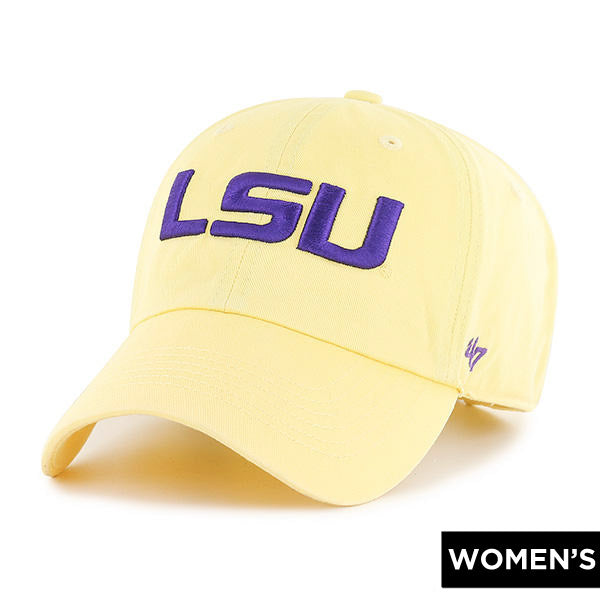 LSU Tigers 47 Brand Geaux Font Clean Up Adjustable Women's Hat - Yellow