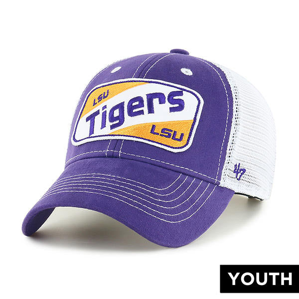 LSU Tigers 47 Brand Woodlawn MVP Mesh Trucker Youth Hat  - Purple