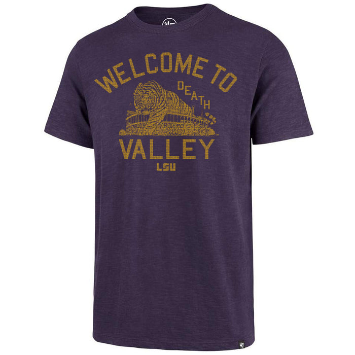 47 Brand LSU Tigers Welcome To Death Valley Scrum T-shirt - Purple