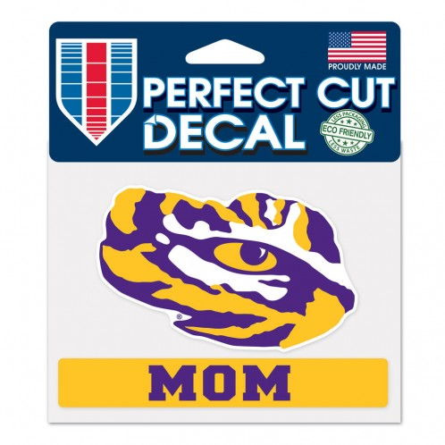 LSU Tigers 4x5 Die Cut Decal - Mom
