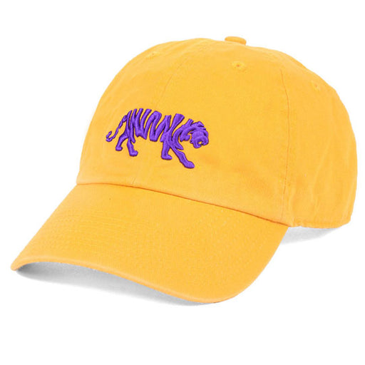 LSU Tigers Ahead Silhouette Walking Tiger Classic Solid Adjustable Hat - Gold